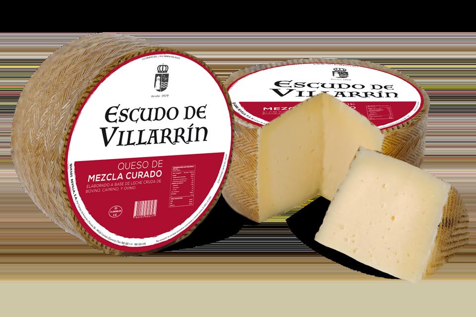 Escudo de Villarrín queso mezcla curado