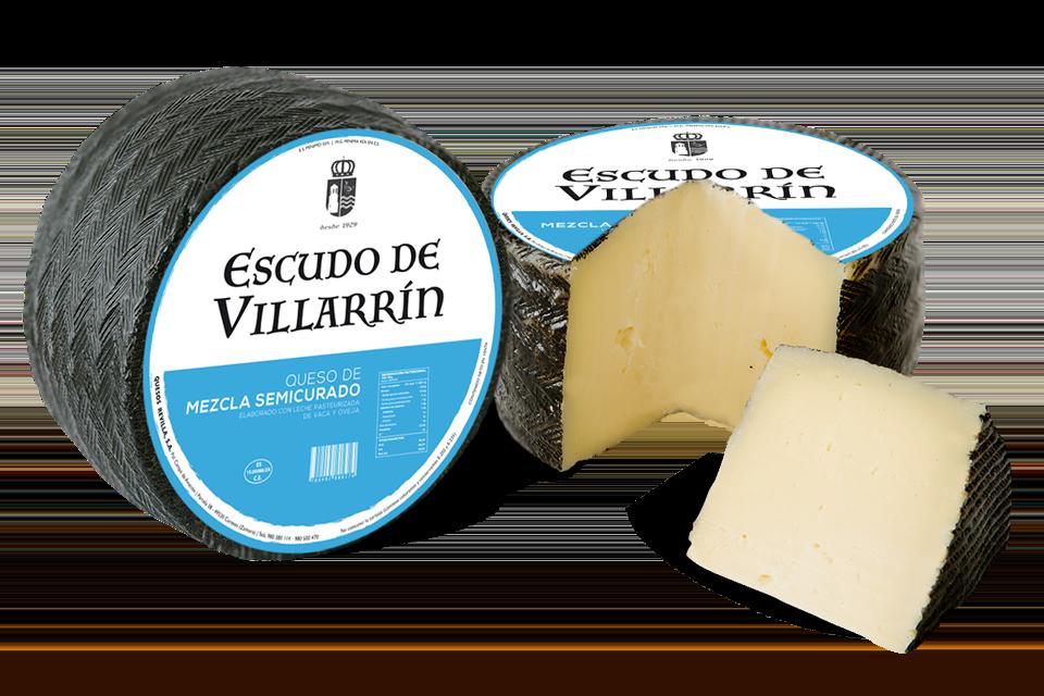 Escudo de Villarrín queso mezcla semicurado